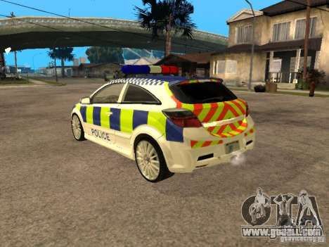 Opel Astra 2007 Police for GTA San Andreas left view