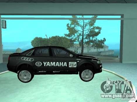 Audi RS4 for GTA San Andreas interior