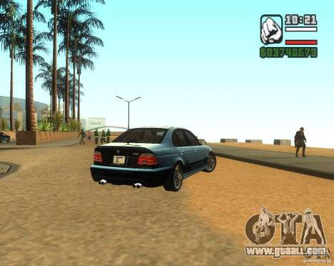 BMW M5 E39 2003 for GTA San Andreas back left view