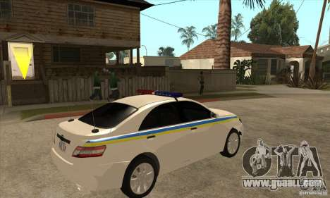 Toyota Camry 2010 SE Police UKR for GTA San Andreas right view