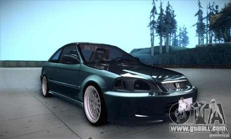 Honda Civic 6Gen for GTA San Andreas inner view