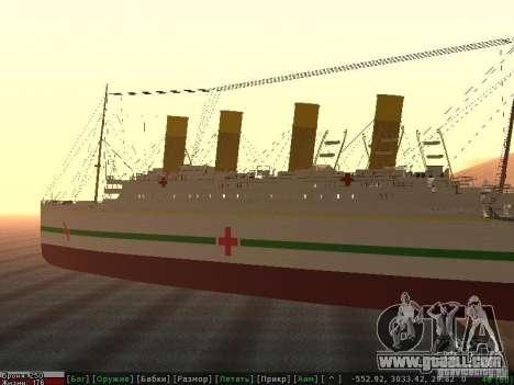 HMHS Britannic for GTA San Andreas left view