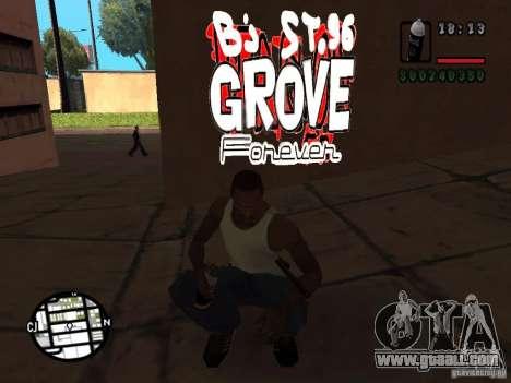 New graffiti gangs for GTA San Andreas second screenshot
