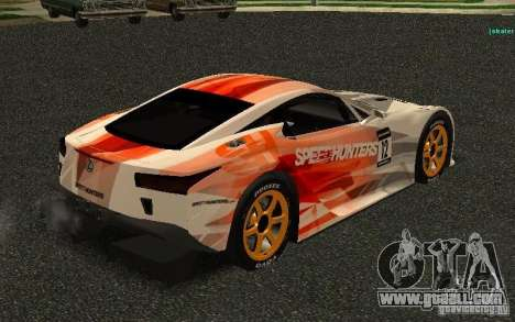 Lexus LFA Speedhunters Edition for GTA San Andreas right view