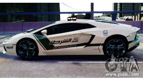 Lamborghini Aventador LP700-4 Dubai Police v1.0 for GTA 4 back left view
