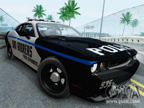 Dodge Challenger SRT8 2010 Police for GTA San Andreas