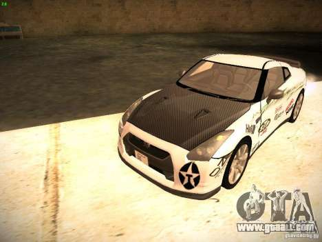 Nissan GT-R for GTA San Andreas side view