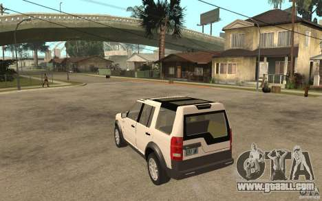 Land Rover Discovery 3 V8 for GTA San Andreas back left view