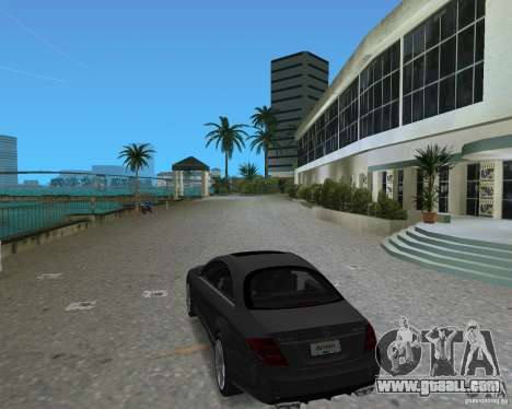 Mercedess Benz CL 65 AMG for GTA Vice City back view