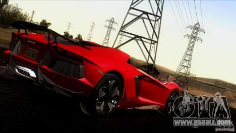 Lamborghini Aventador LP-700 J for GTA San Andreas upper view