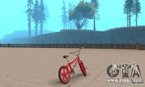 New BMX for GTA San Andreas left view