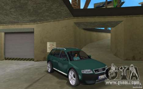 Audi Allroad Quattro for GTA Vice City back view