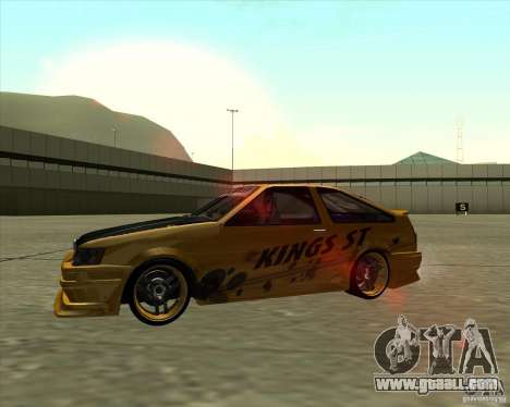 Toyota AE86 Levin for GTA San Andreas back view