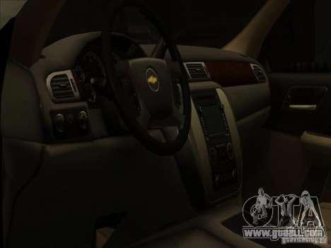 Chevrolet Silverado 3500 for GTA San Andreas inner view