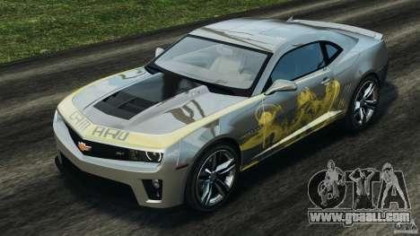 Chevrolet Camaro ZL1 2012 v1.0 Smoke Stripe for GTA 4