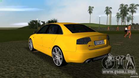 Audi RS4 for GTA Vice City back left view
