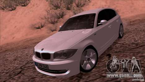 BMW 120i 2009 for GTA San Andreas back left view