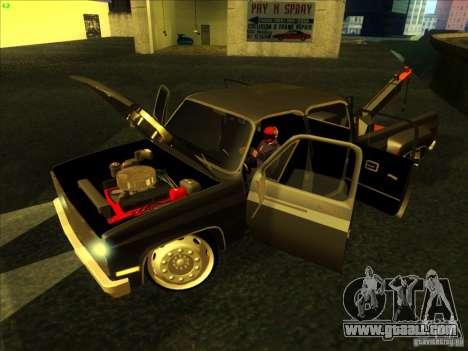 Chevrolet Silverado Towtruck for GTA San Andreas right view
