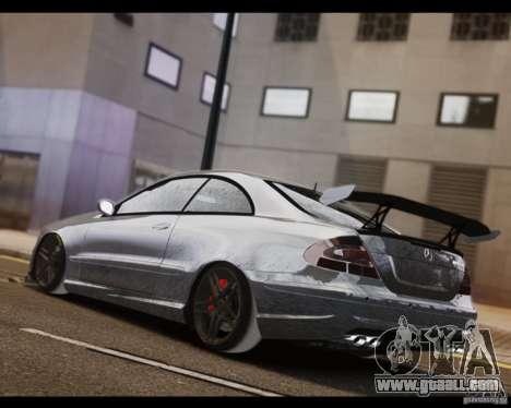 Mercedes-Benz CLK 63 AMG Black Series for GTA 4 left view