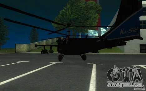 KA-52 ALLIGATOR v1.0 for GTA San Andreas back left view