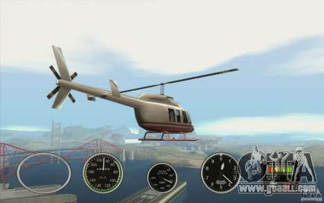 Air instruments in an airplane for GTA San Andreas forth screenshot
