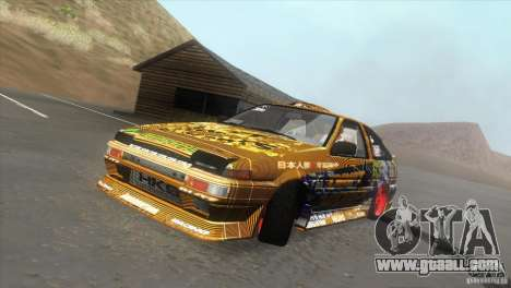 Toyota Corolla AE86 DS for GTA San Andreas inner view