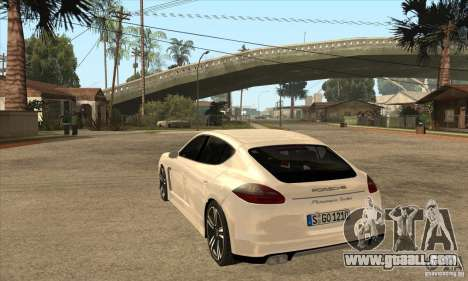 Porsche Panamera Turbo for GTA San Andreas back left view