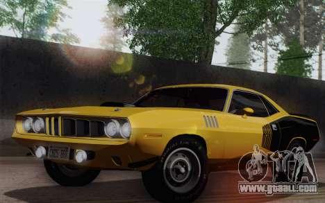 Plymouth Hemi Cuda 426 1971 for GTA San Andreas back left view