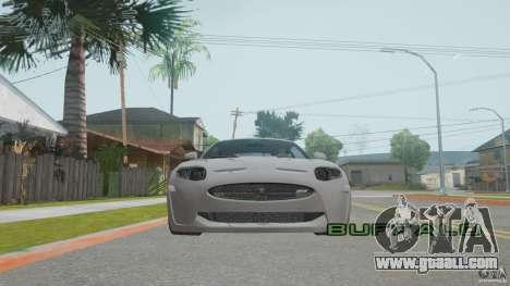 Jaguar XKR-S for GTA San Andreas inner view