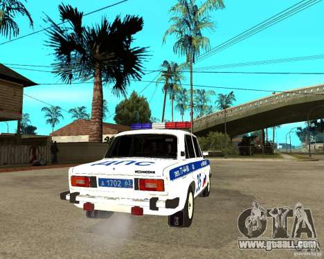 VAZ 2106 DPS for GTA San Andreas back left view
