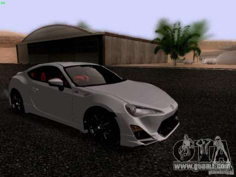 Toyota 86 TRDPerformanceLine 2012 for GTA San Andreas left view