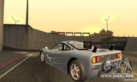 Mclaren F1 LM (v1.0.0) for GTA San Andreas back left view