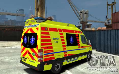 Mercedes-Benz Sprinter 2011 Ambulance for GTA 4 right view
