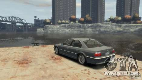 BMW 740i E38 for GTA 4 left view