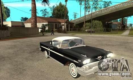 Chevrolet Impala 1958 for GTA San Andreas inner view