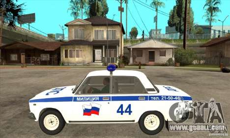 VAZ 2107 Police for GTA San Andreas left view