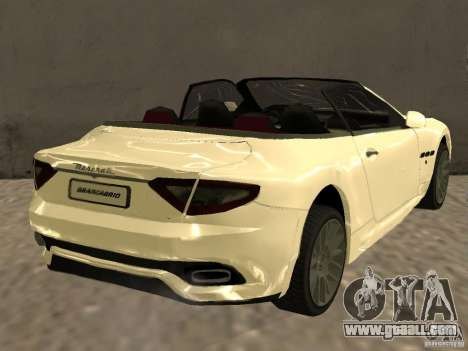 Maserati GranCabrio 2011 for GTA San Andreas back left view