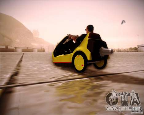 Sinclair C5 for GTA San Andreas left view