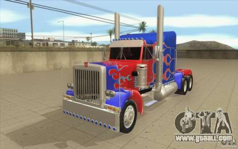 Peterbilt 379 Optimus Prime for GTA San Andreas