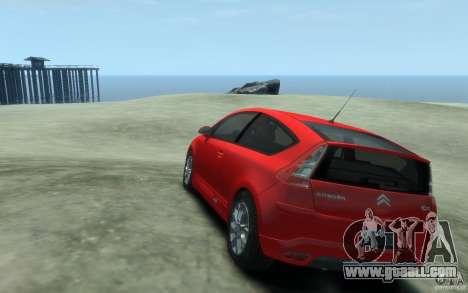 Citroen C4 2009 VTS Coupe v1 for GTA 4 back left view