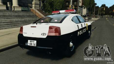Dodge Charger Japanese Police for GTA 4 back left view