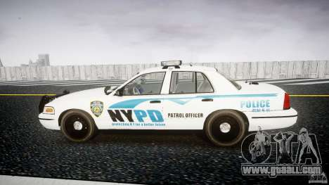 Ford Crown Victoria v2 NYPD [ELS] for GTA 4 left view