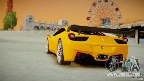 Ferrari 458 Challenge 2011 for GTA 4 inner view