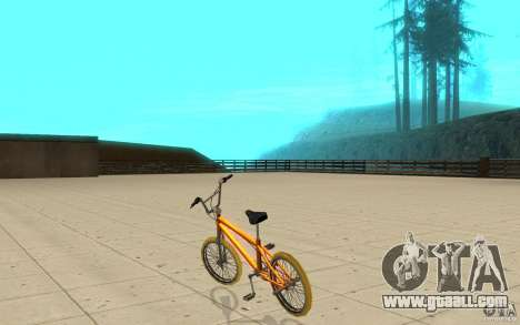 Zeros BMX YELLOW tires for GTA San Andreas back left view