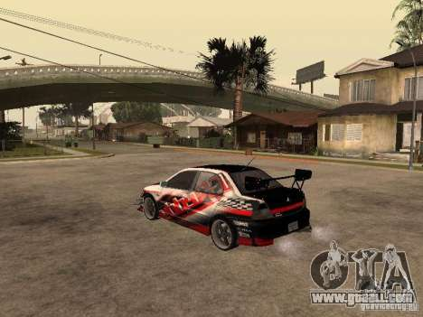 Mitsubishi Lancer Evolution 8 GReddy for GTA San Andreas left view