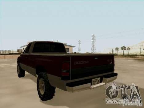 Dodge Ram 2500 1994 for GTA San Andreas inner view