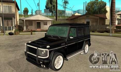 Brabus B11 W463 2008 v1.0 for GTA San Andreas