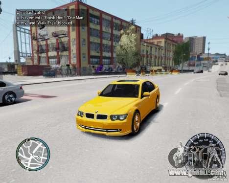 BMW Alpina B7 for GTA 4 back view