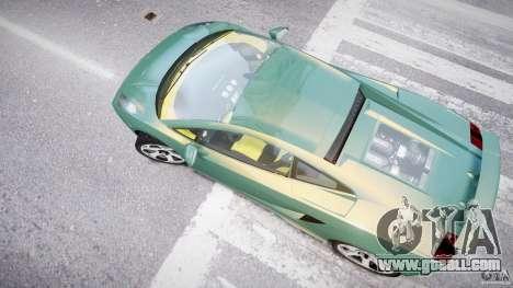 Lamborghini Gallardo for GTA 4 upper view