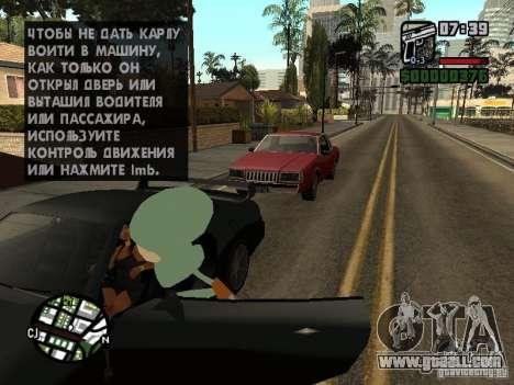 Squidward for GTA San Andreas eighth screenshot